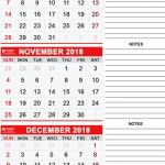 Three-Monthly Calendar