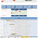 2016 Excel Calendars