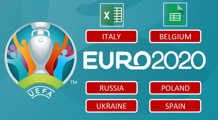 uefa euro 2012 schedule and scoresheet excel templates
