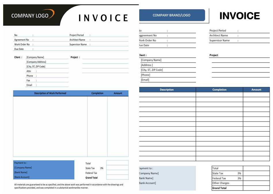 Captivating Contractor Invoice Template For Excel And Word