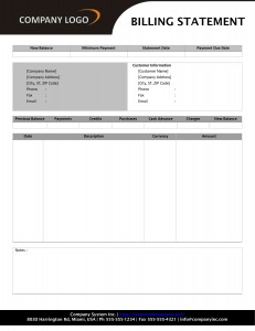 Billing Statement Format Word Template