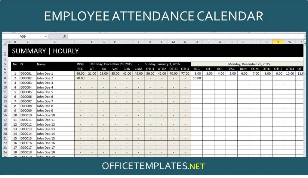Employee Attendance Tracker Template