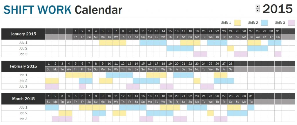Shift Schedule Planner - Excel
