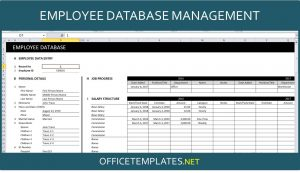 Employee Database Management Spreadsheet