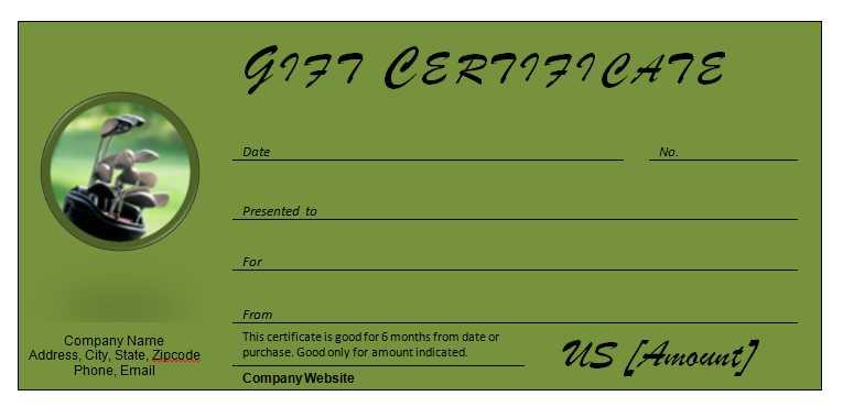 Golf Gift Certificates