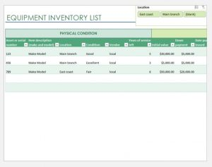 Inventory System for Equipment Rental Business