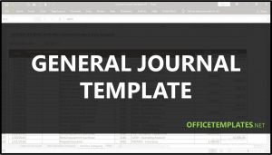 General Journal Template