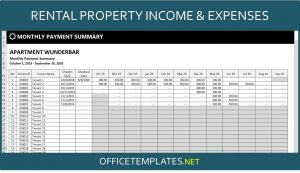 Landlords Rental Income and Expenses Tracking Spreadsheet