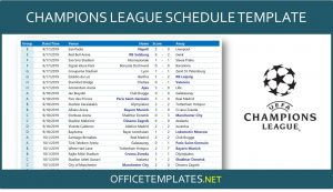 UEFA Champions League 2020/2021 Schedule