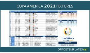 Copa America 2021 Schedule and Scoresheet