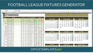 Football League Fixtures Creator with Automated Standing Table