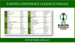 UEFA Europa Conference League 2021/2022 Schedule
