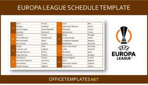 UEFA Europa League 2021/2022 Schedule